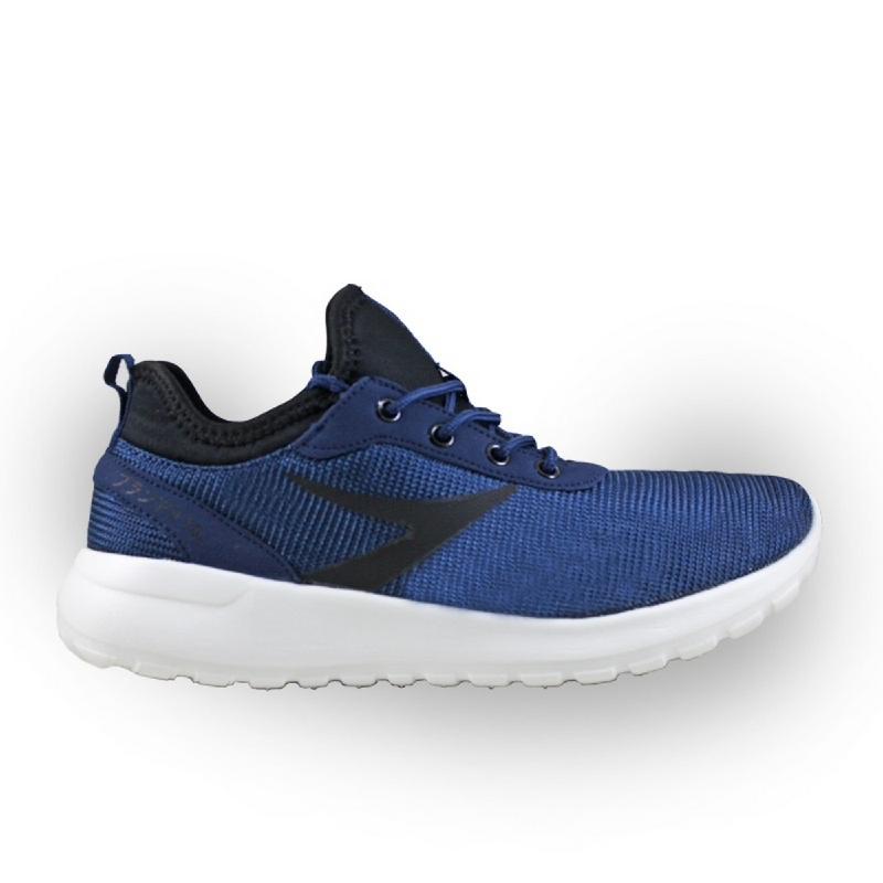 910 NINETEN Yasei Sepatu Olahraga Lari Unisex - Biru-Tua Hitam Putih