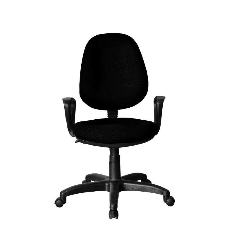 Kursi kerja kursi kantor BK Series - BK26 Black - PVC Leather