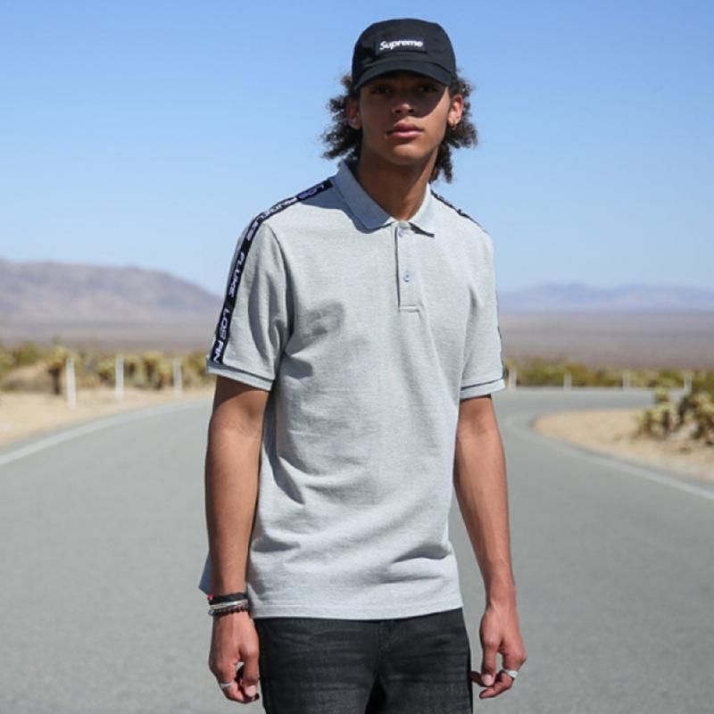 Fluke Influx Uni Line Tape Collar T-Shirt - Gray