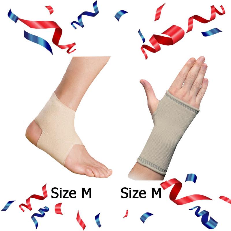 Ankle Brace - EAN001 (Size M) + E-Life Palm Brace Size M