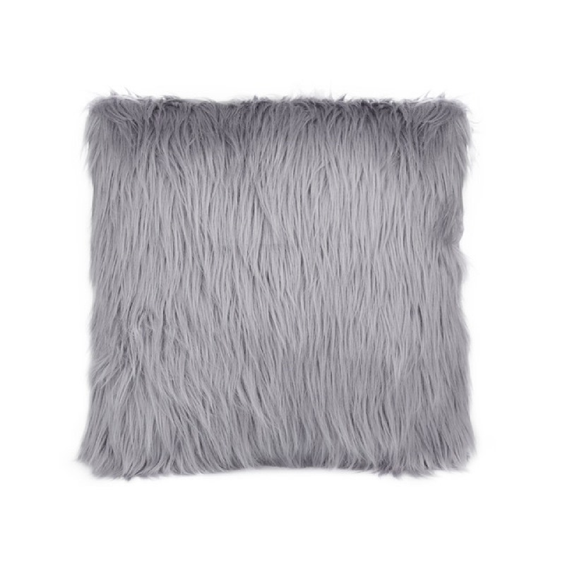 Silver Fur Cushion - Abu Abu
