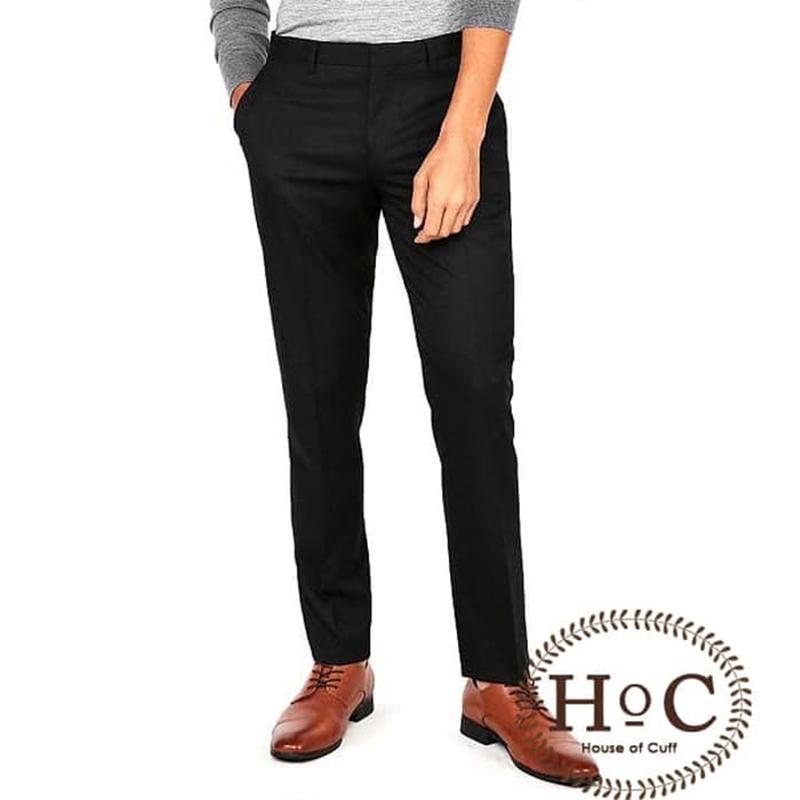 House Of Cuff Celana Bahan Formal Slimfit Black Trouser