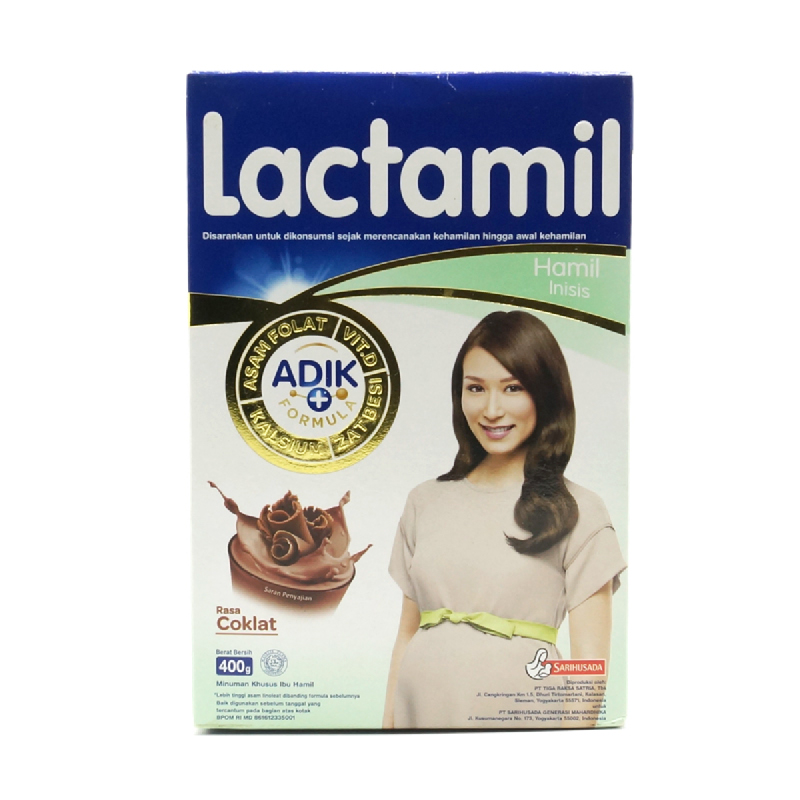 Lactamil Inisis Coklat Box 400 Gr