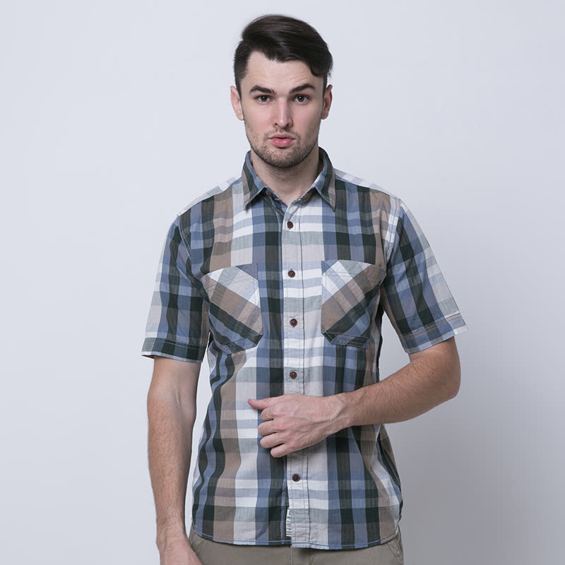 Gorney Green Cotton Short Sleeve Shirt