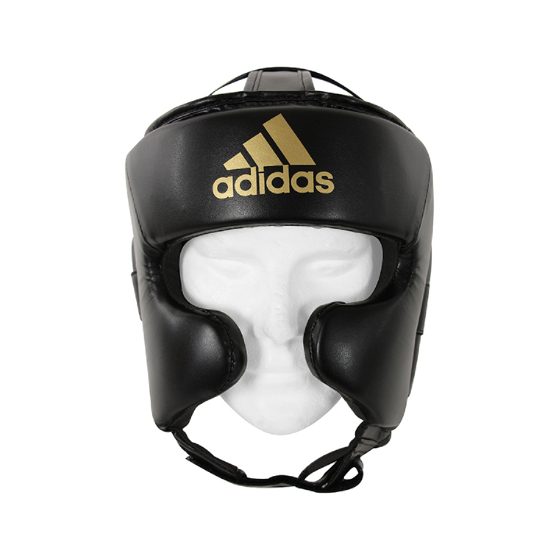 Adidas Combat Super Pro Training Head Guard Black Gold