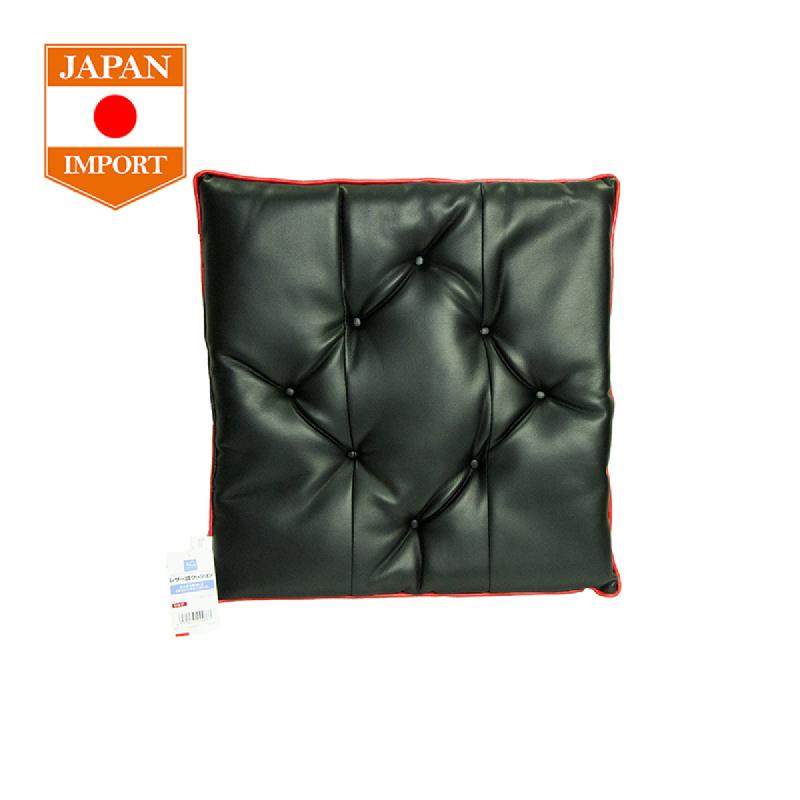 AQ Single Cushion Soft Leather Stitch Red