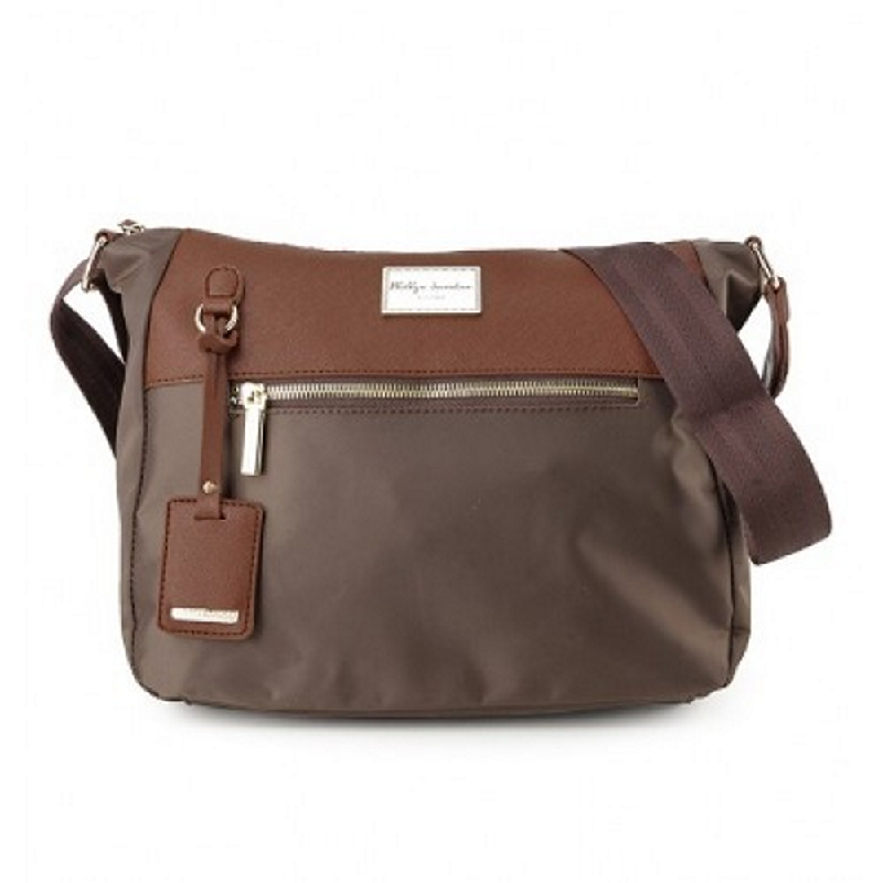 Phillipe Jourdan Harlequin Messenger Bag Brown
