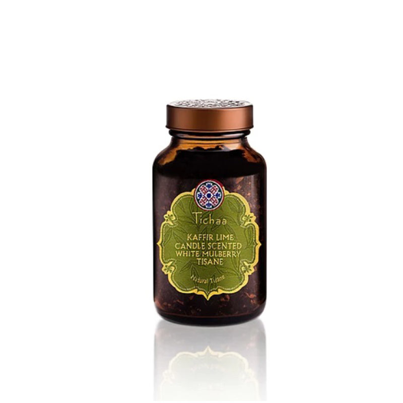 Tichaa Kaffir Lime Candle Scented & White Milberry Tisane 45gr