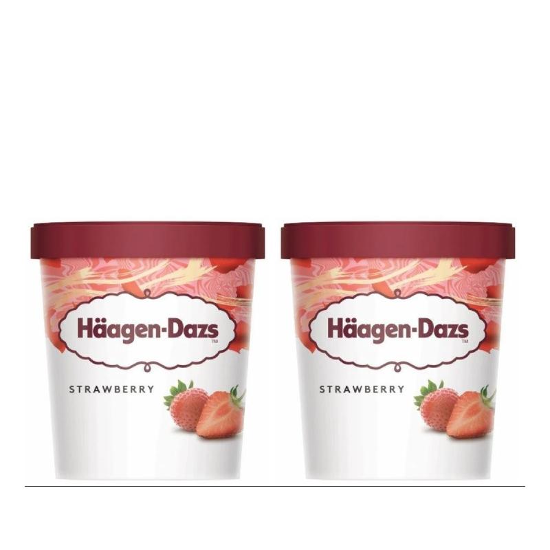 Haagen Dazs Strawberry 473 Ml (Buy 1 Get 1)