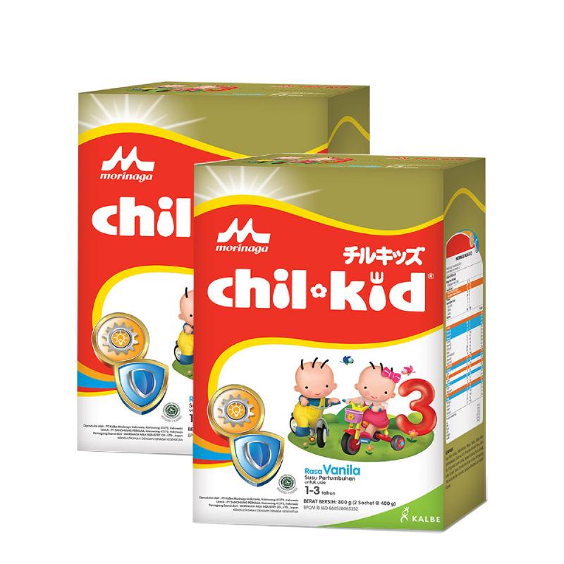 Morinaga Susu Bubuk Chil Kid Vanila 800G (Get 2)