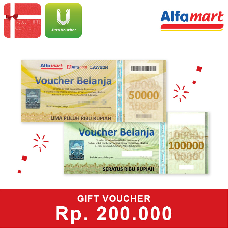 Alfamart Voucher Senilai Rp 200.000
