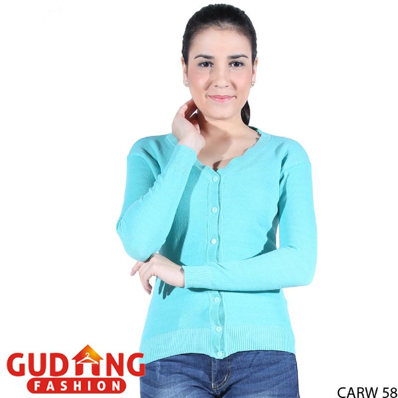 Gudang Fashion Cardigan Rajut Wanita - Biru Muda CARW 58