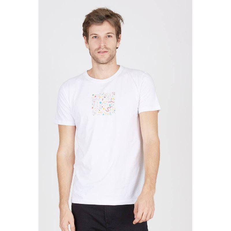 Men T-Shirt True Lies White