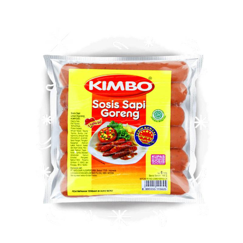 Kimbo Fried Beef Sausage 186 Gr (6 Pcs)