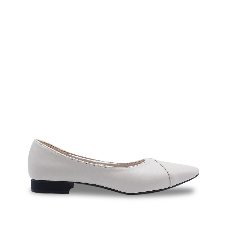 DEA Pointed Flat Shoes 1808-037 Beige