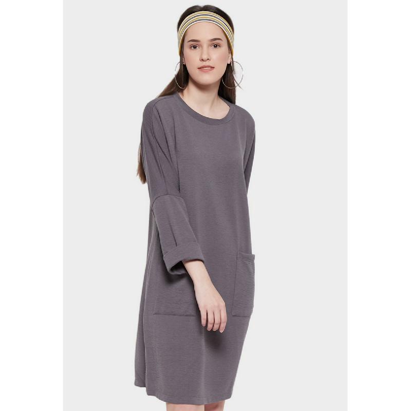 Simplicity Textured Dress Grey