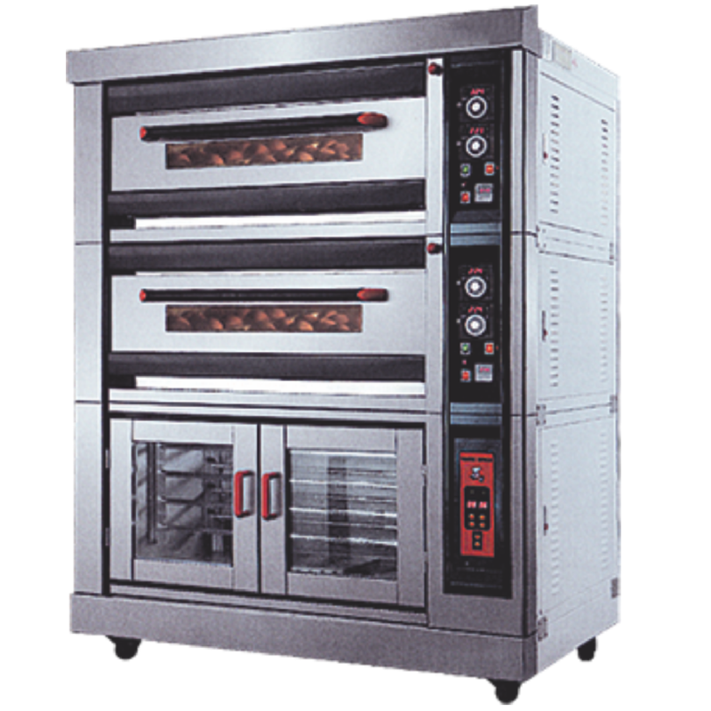 Crown Luxury Gas Oven R-40HF 3 Deck 12 Loyang & 8 Tray Proofer