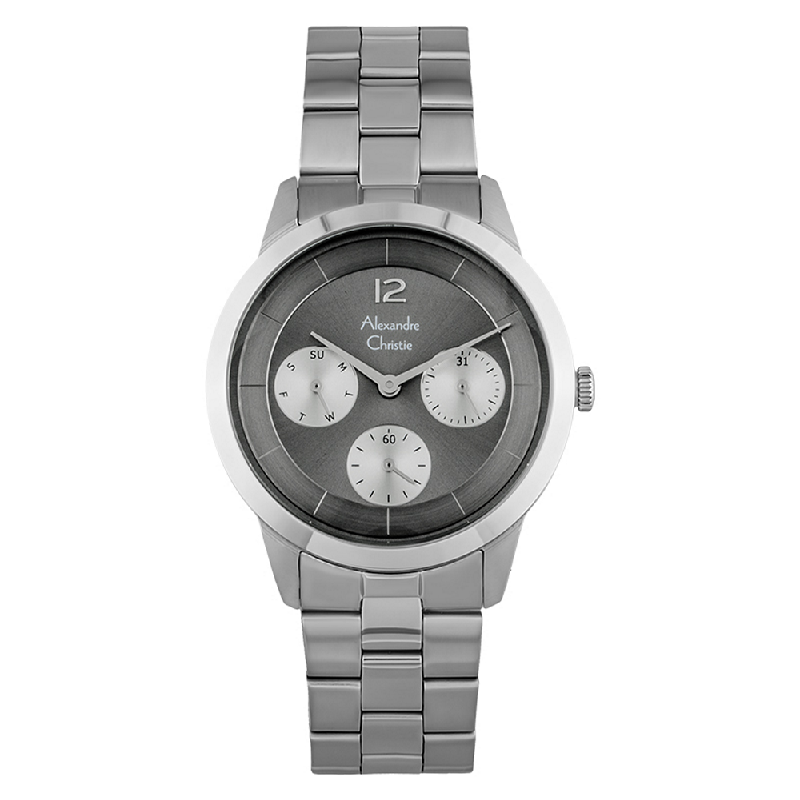 Alexandre Christie AC 2760 BF BSSGR Ladies Grey Dial Stainless Steel