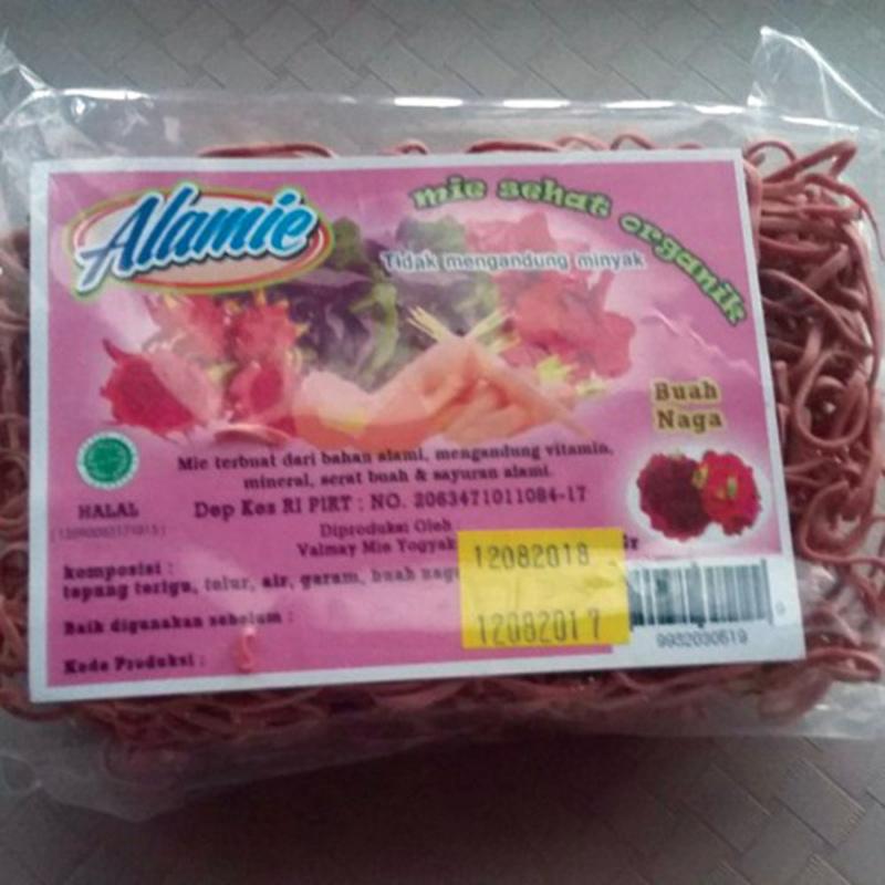 Alamie - Mie Non Bumbu Buah Naga 100 gr (10 Pack)