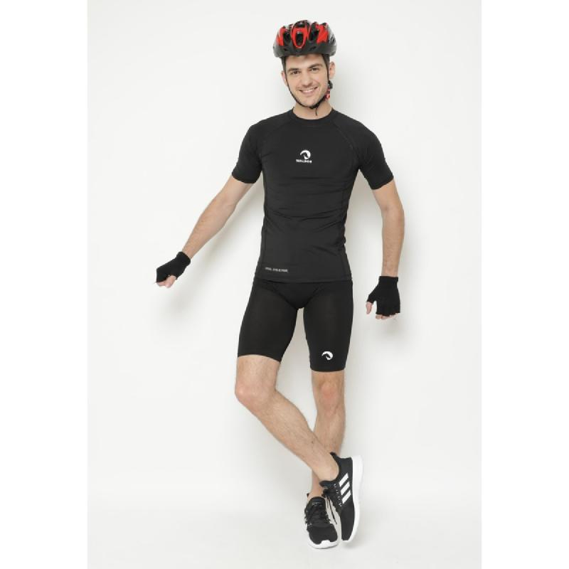 1 Set Short Baselayer + Compression Sepeda Waldos Cycling Manset Jersey