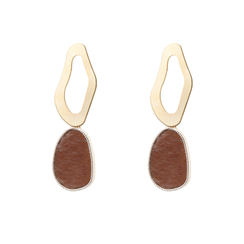 Korea Cocoa Jewelry Antique Classy - Anting Gold Color