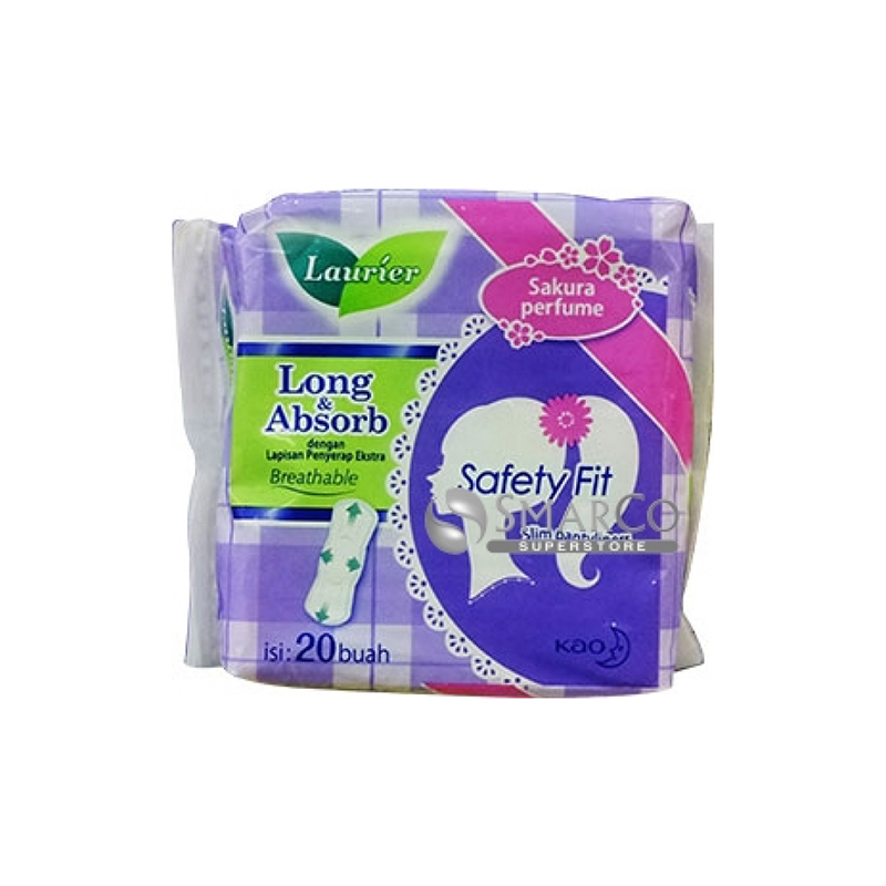 Laurier Pantyliner Safety Fit Parfum 20s