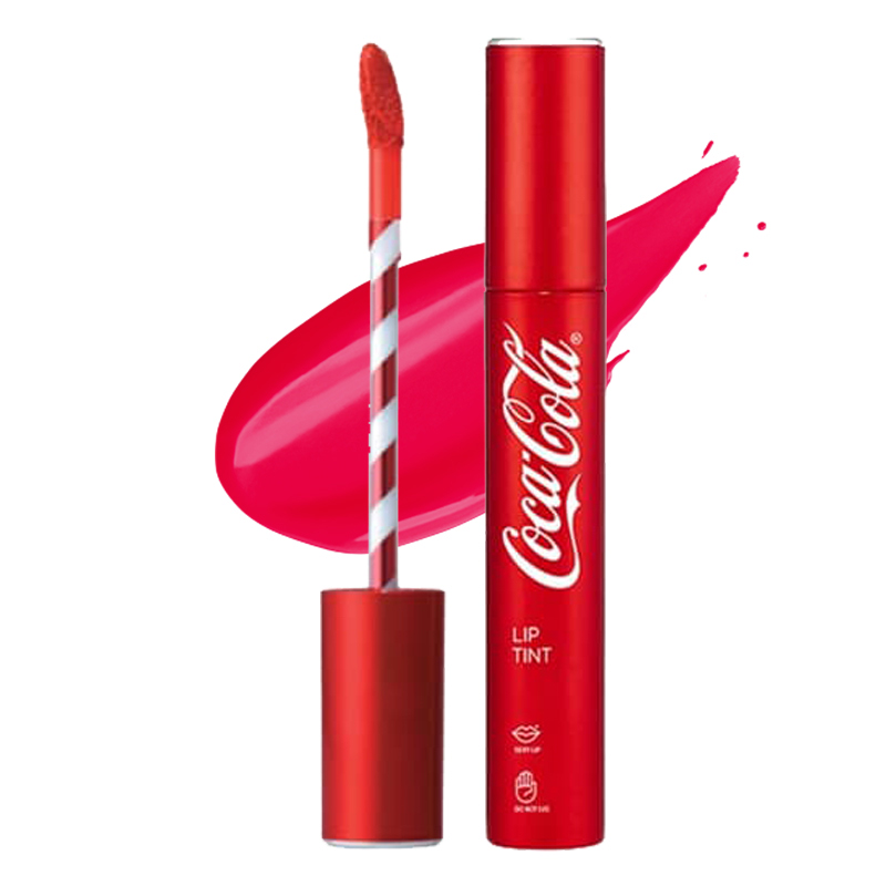 The Face Shop Coca Cola Lip Tint 04 Tasty Pink