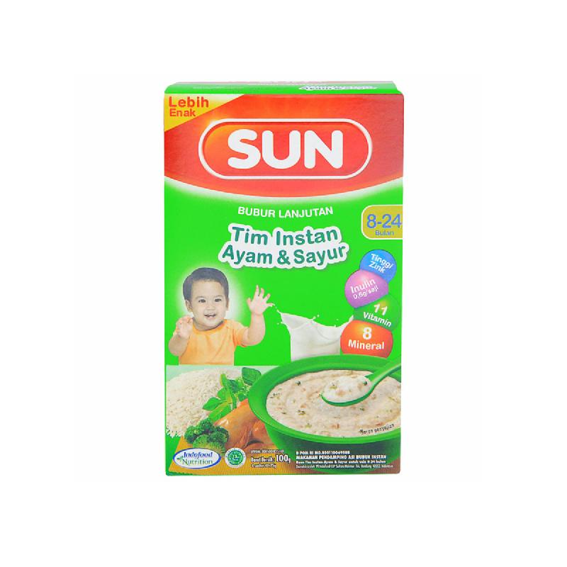 Sun Bubur Lanjutan Tim Instan Ayam & Sayur Box 100 Gr