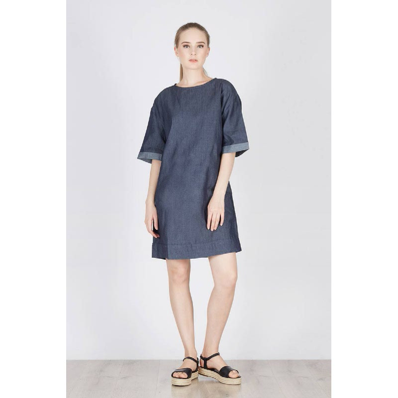 Reves Denim Dress Navy
