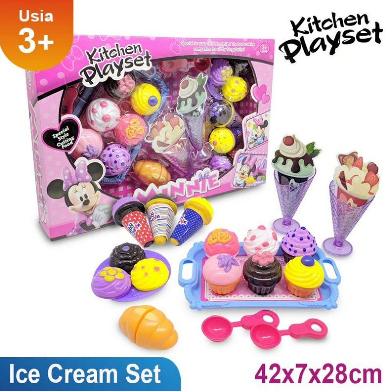 Mainan Anak Cup Cake dan Ice Cream Set Minnie - 6686-8