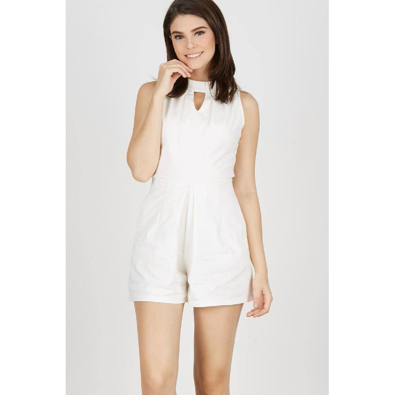 Gwen Kahla Playsuit in White