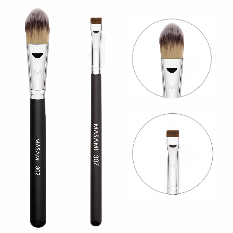 Masami 302 Foundation Brush + 307 Flat Definer Brush