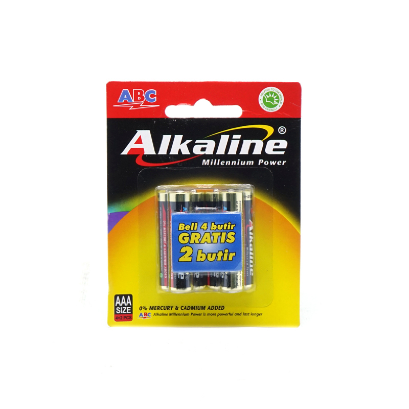 Abc Battery Alkaline Aaa Lr-03 4B Mp