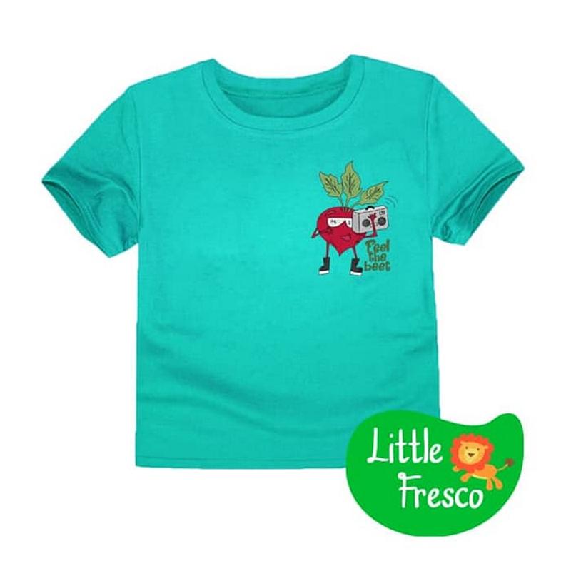 Little Fresco - Kaos Anak Feel The Beet Hijau Muda