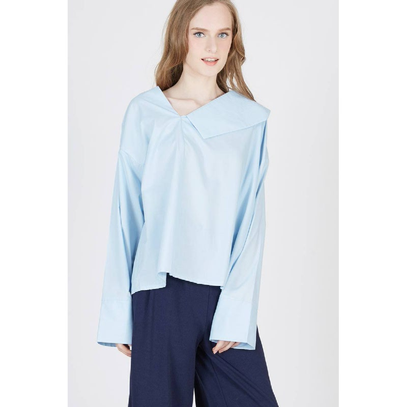 Pulo Collared Top Blue