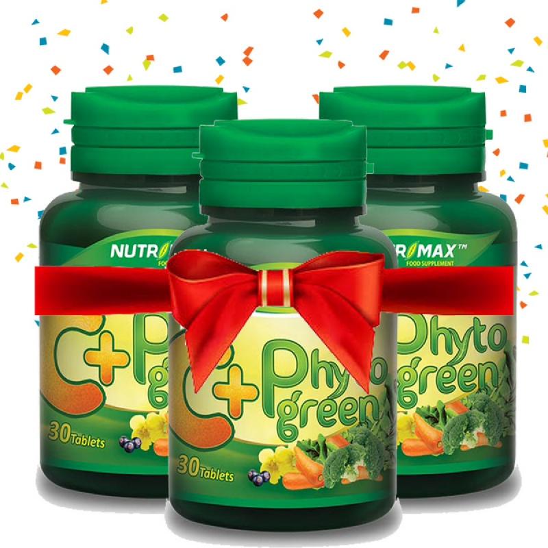Buy 3 Bottle Nutrimax C+ Phytogreen (For Adult) 30 Tablet