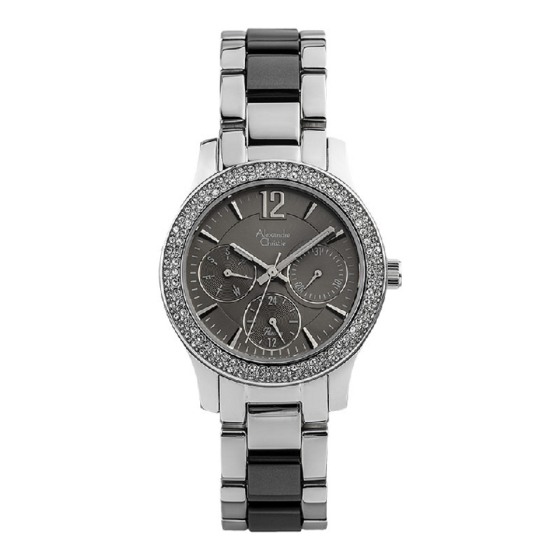 Alexandre Christie Passion AC 2463 BF BSSDG Ladies Grey Dial Dual Tone Stainless Steel with Acetate