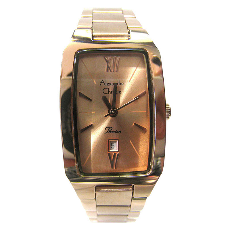 Alexandre Christie AC 2455 LDBRGLN Rose Gold Dial Stainless Steel Strap