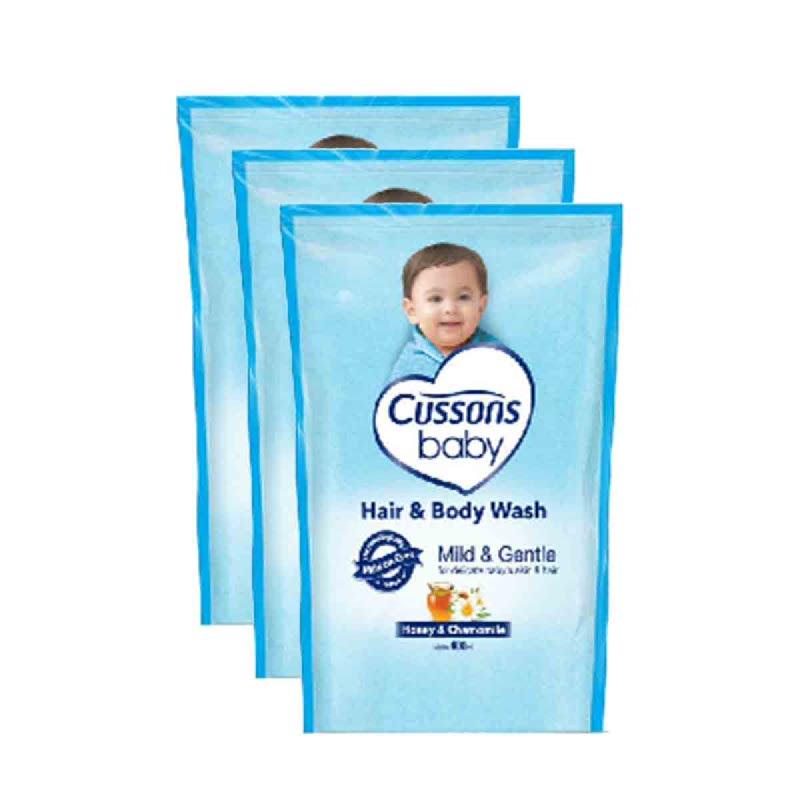 Cussons Hair & Body Wash Newborn Reffil 400Ml (Buy 2 Get 1)