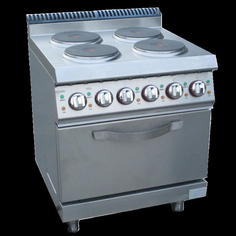 Crown Electric 4 Hot-Plate Cooker & Cabinet E-DSJ-700