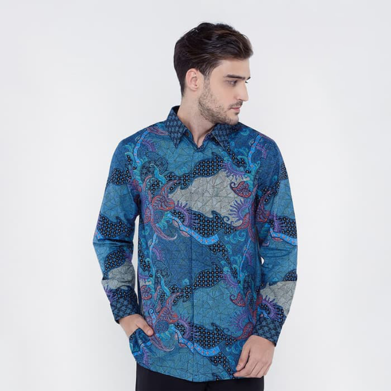 Asana Batik Long Sleeve LS16219BLU Blue