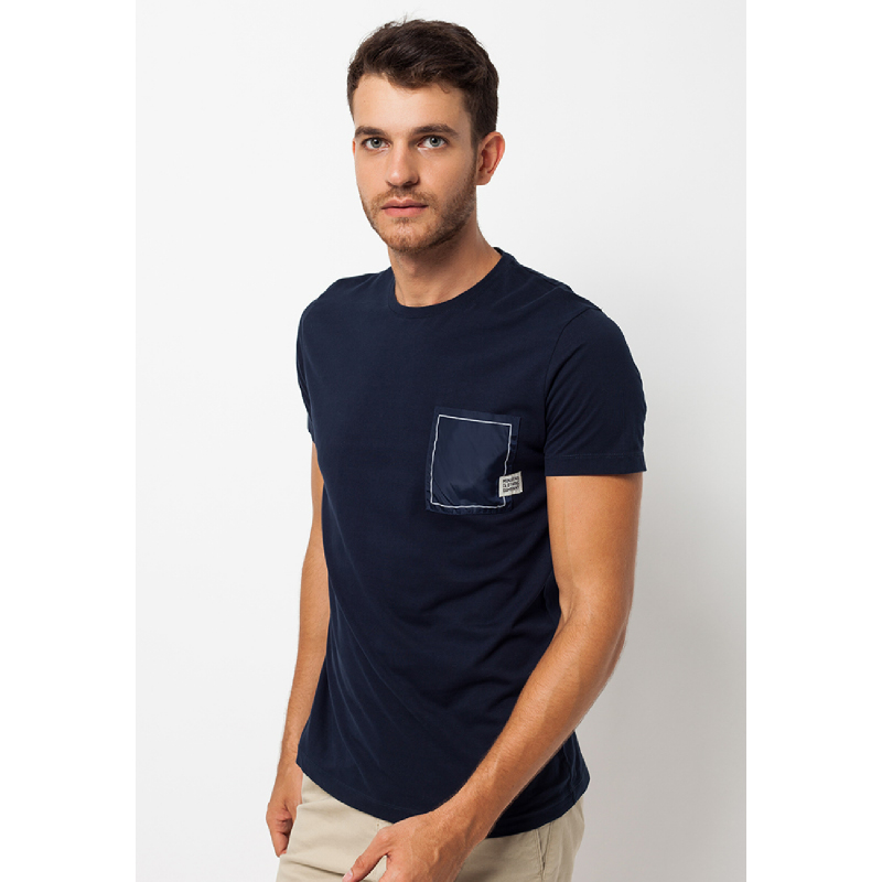 Navy Pocket Logo Short Sleeves Tee