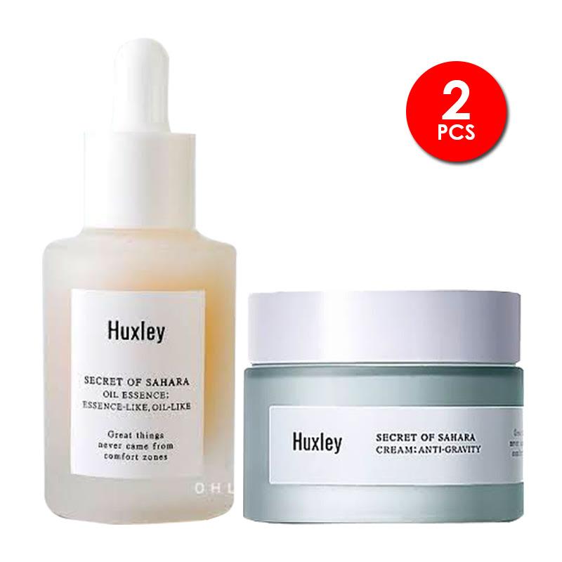 Antioxidant Routine Set Huxley Oil Essence Essence-Like Oil-Like+Huxley Cream Essential (Anti-Gravity)
