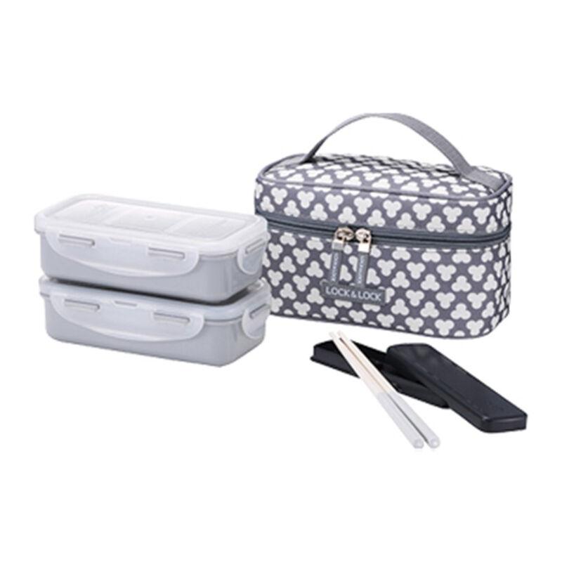 LOCK & LOCK Lunch Box 2P Set Bag & Spoon, Fork Set (HPL752CDS)