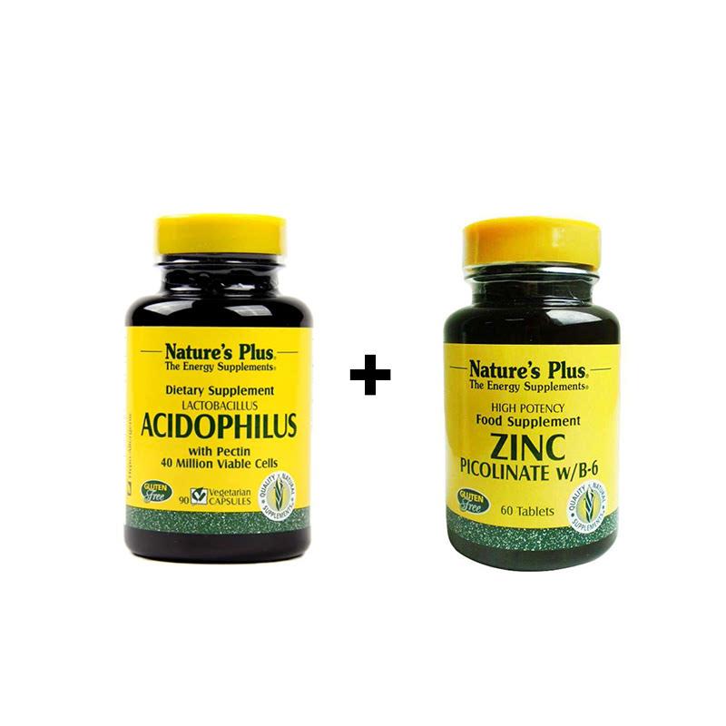 Acidophilus - 90 Capsules + Zinc Picolinate - 60 Tablets