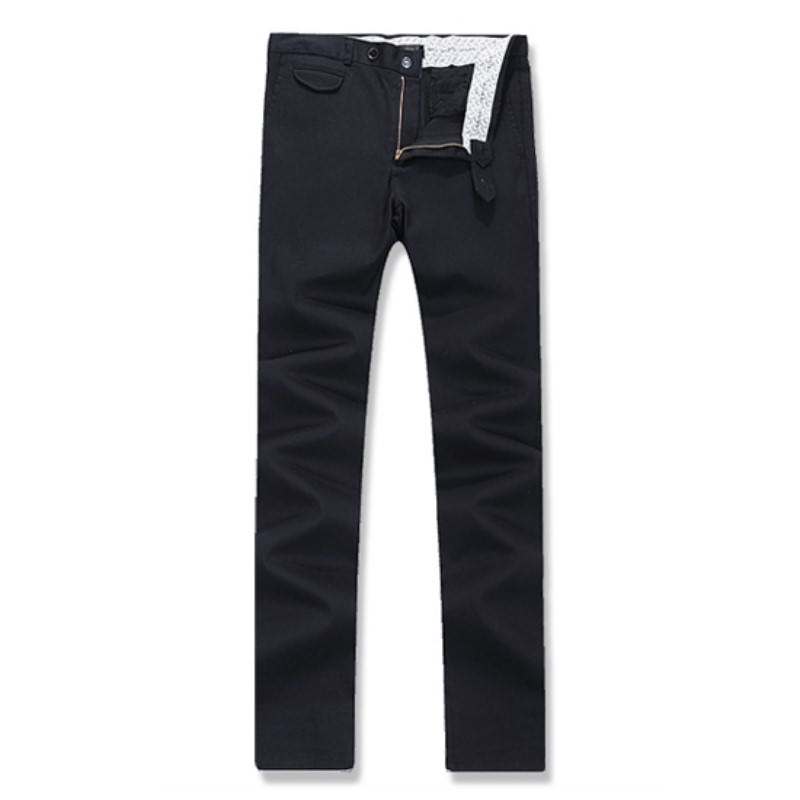 Out Pocket Cotton Span Pants - Navy