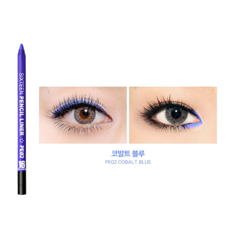 16brand Eye Pencil Liner - Cobalt Blue