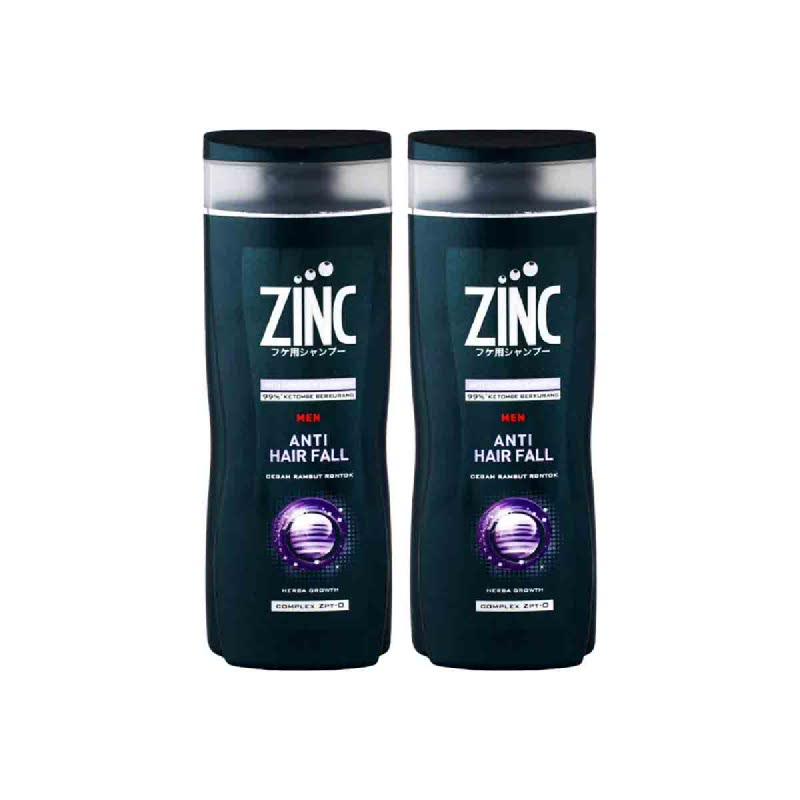 Zinc Shampoo Men Anti Hair Fall Botol 340Ml (Buy 1 Get 1)