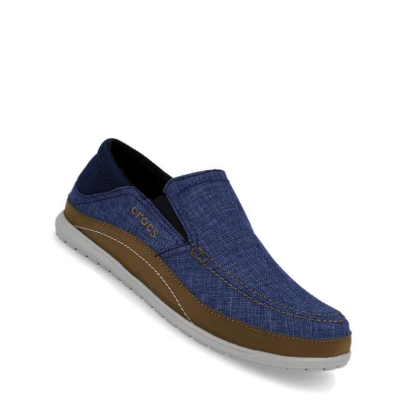 Crocs Santa Cruz Playa Slip On Men Shoes Navy