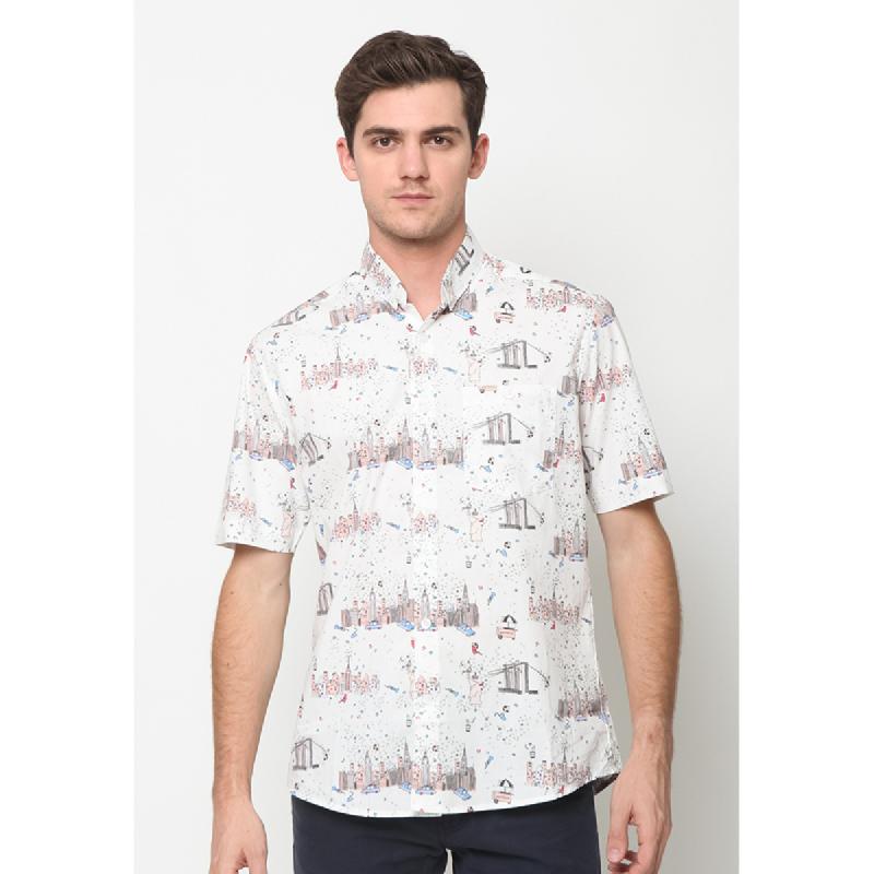 17Seven Shirts Shortshirt Lazior White